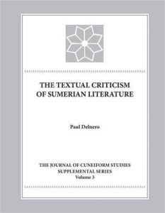 The Textual Criticism of Sumerian Literature